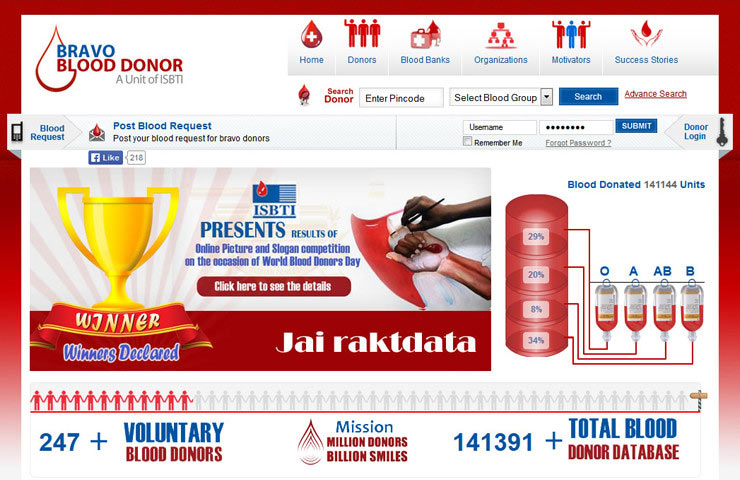 Bravo Blood Donation Website Development For Blood Donor
