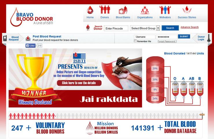 Blood Donation Website Development