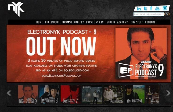 Dj Website design With Joomla Framwork
