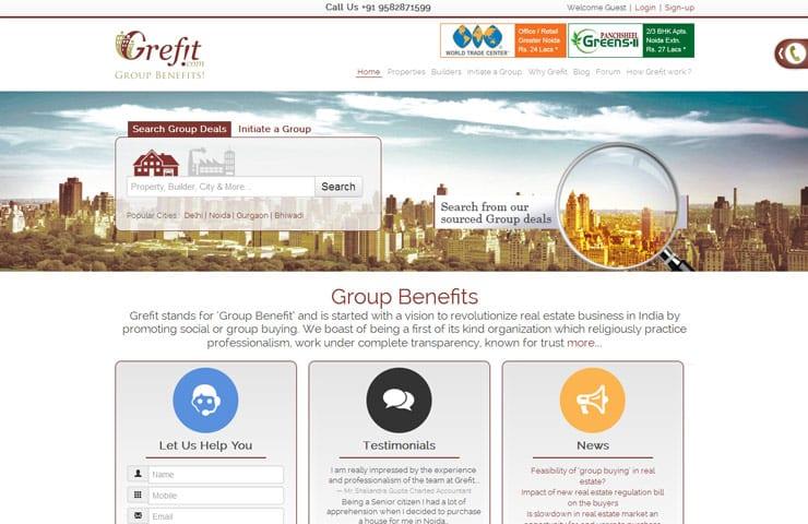 Grefit website development With Joomla