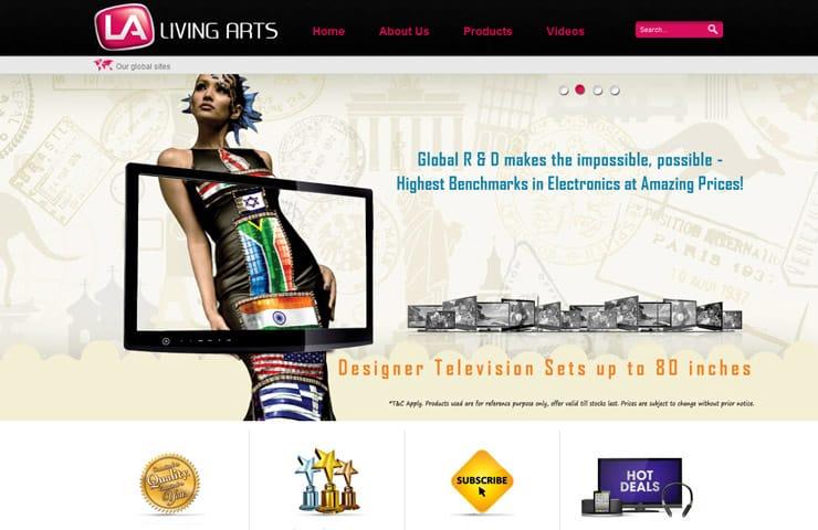 Website design for My living arts in joomla