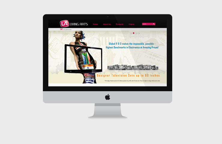 Website Design Of Living Arts