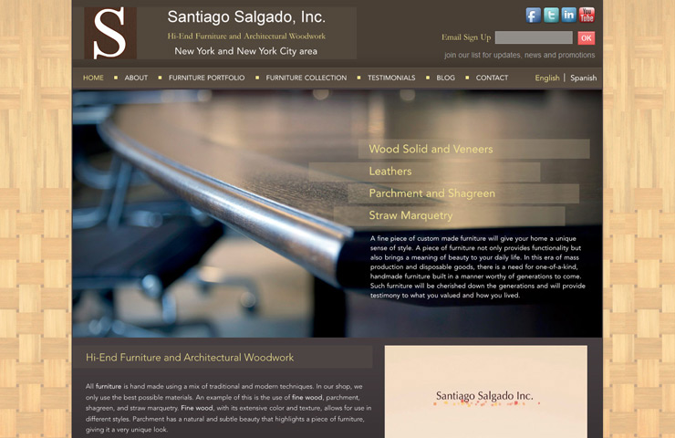 Wordpress Website Development For Santiago Salgado