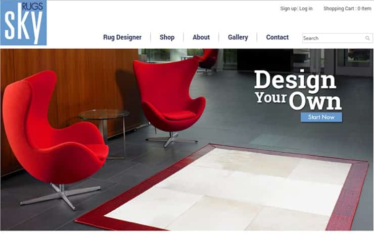 Sky Rugs Website Development with Magnto