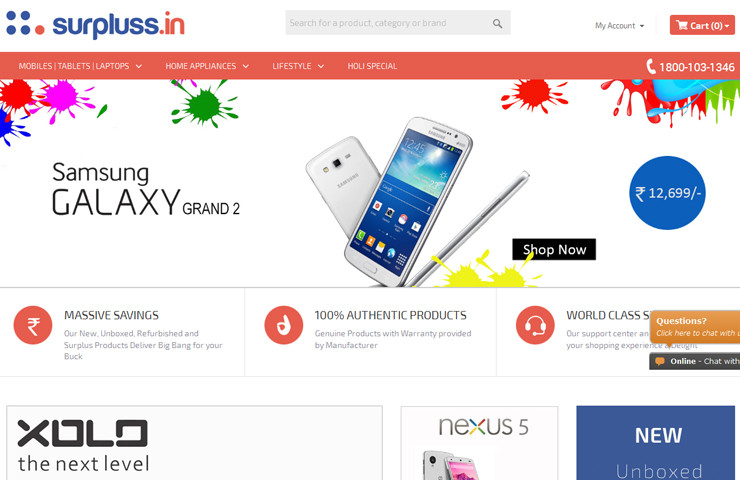 Unboxed Product eCommerce Website Development for Surpluss