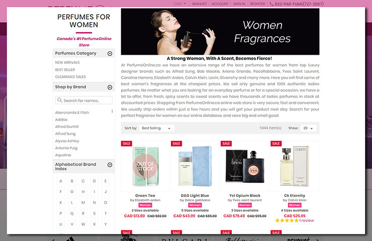 Online Perfume Store Shopify eCommerce Development
