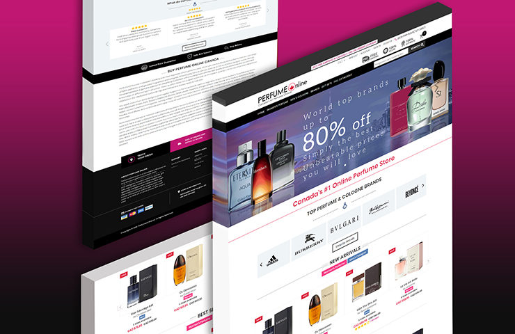 eCommerce website development for Perfume Online Canada