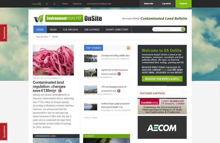 Environment Website Development