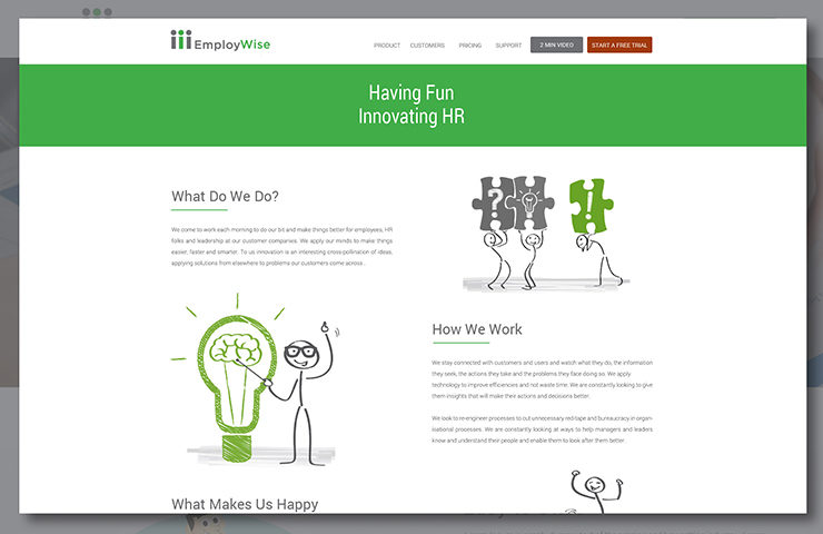 About Page UX Design for Employwise