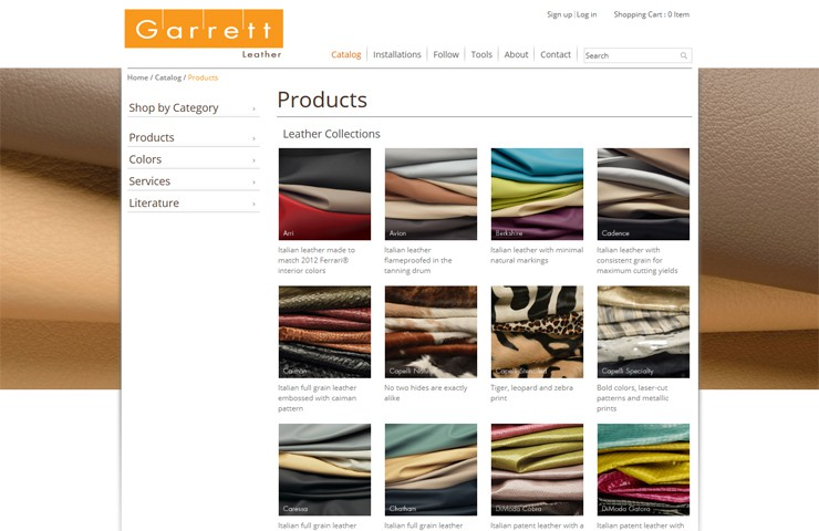 Website Development  Of Leather Product