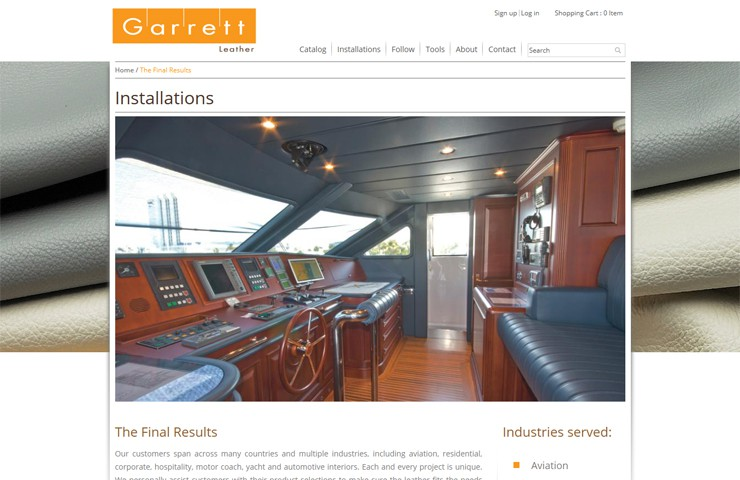 Garrett Leather Magento Development