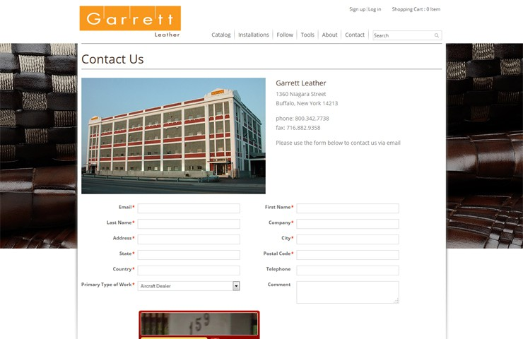 eCommerce Website Development Of  Garret Leather