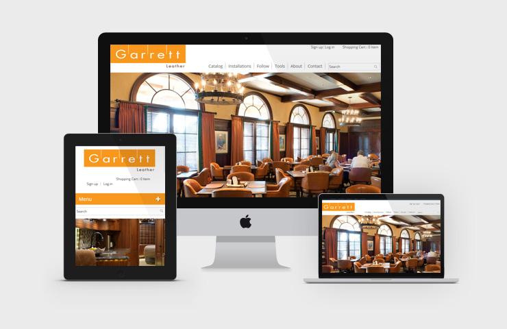 Garrett Leather Website Development