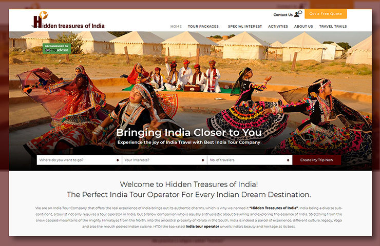 HTO India Website Development