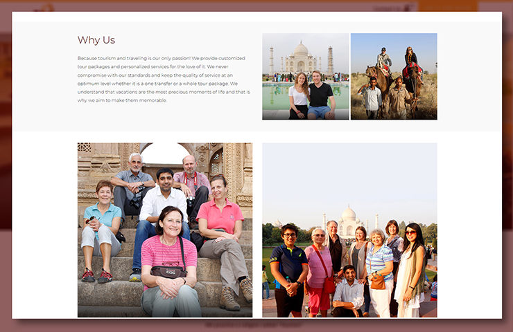 Hidden Treasures of India Website About Page Screenshot 3