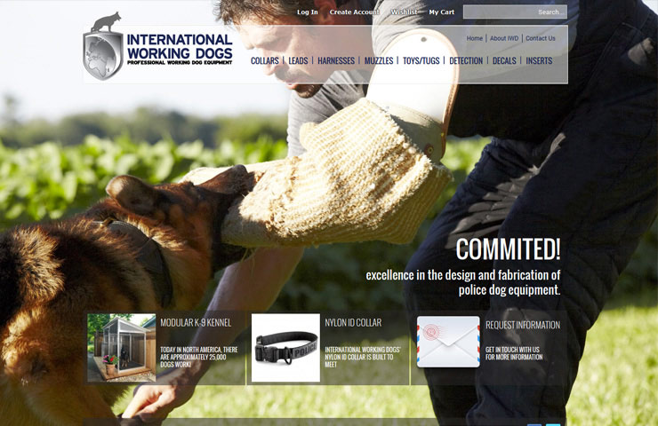 eCommerce Website Development Of Internationalworkingdogs