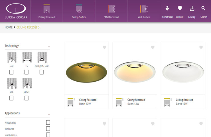Web Development Of Lighting Products