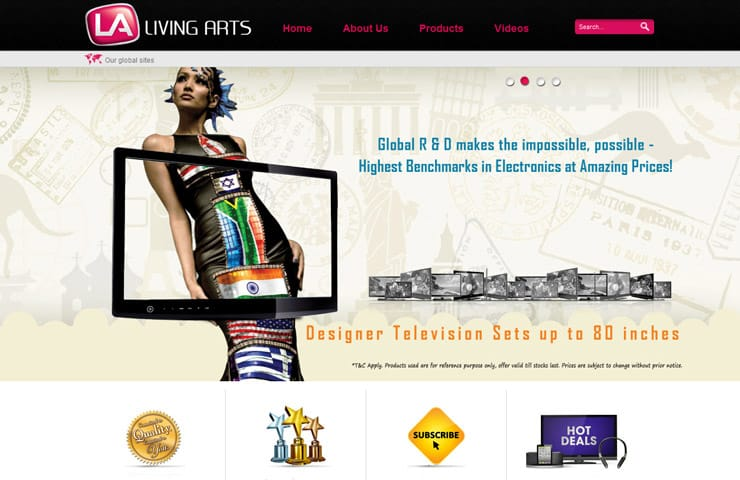 Website design for My living arts in joomla