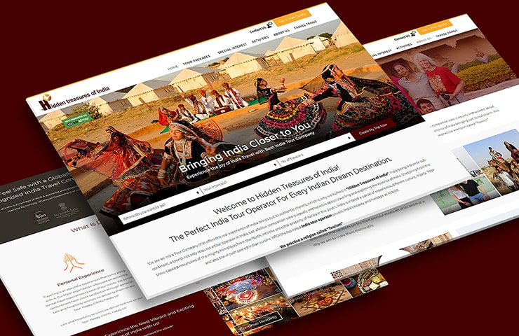 Hidden Treasures of India Website Screenshot
