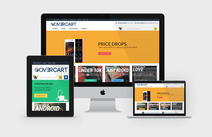 Unboxed eCommerce Website For Overcart