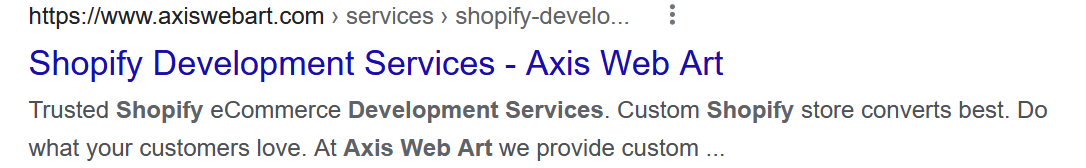 Page title for shopify seo