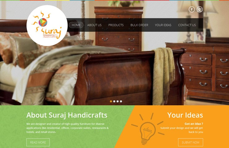Handicrafts website design with magento