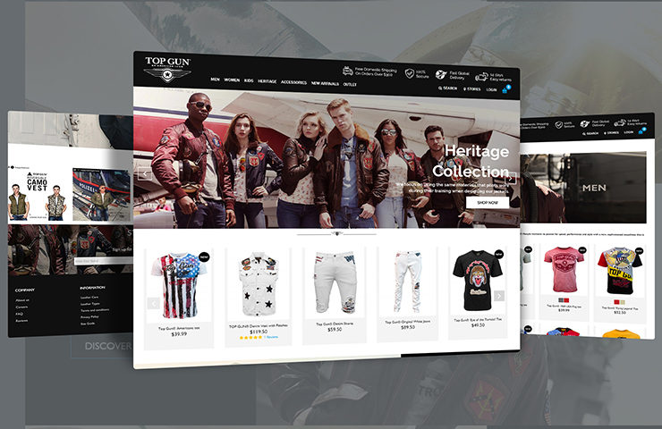 Top Gun Store eCommerce Website Development