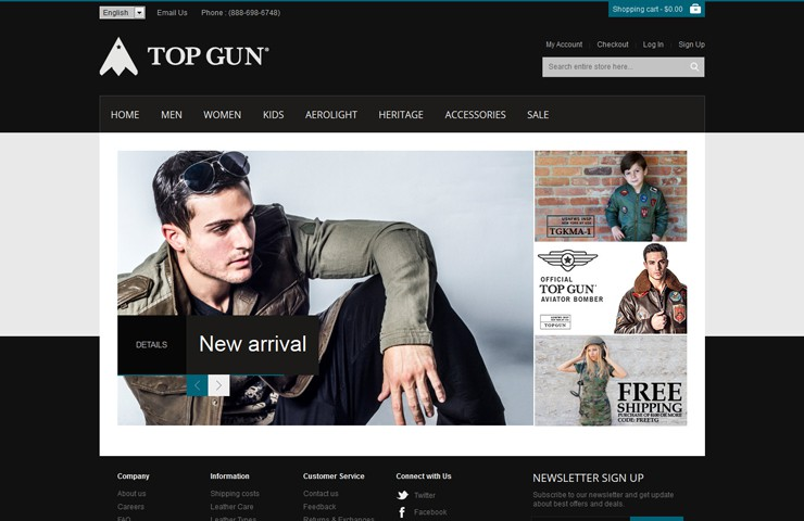 eCommerce Website Development Of Topgun