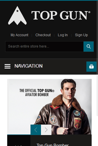 Responsive Web Development Of TopGun Store