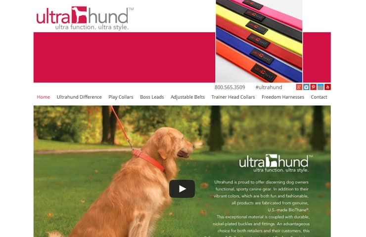 Responsive Ultrahund Website design With Wordpress