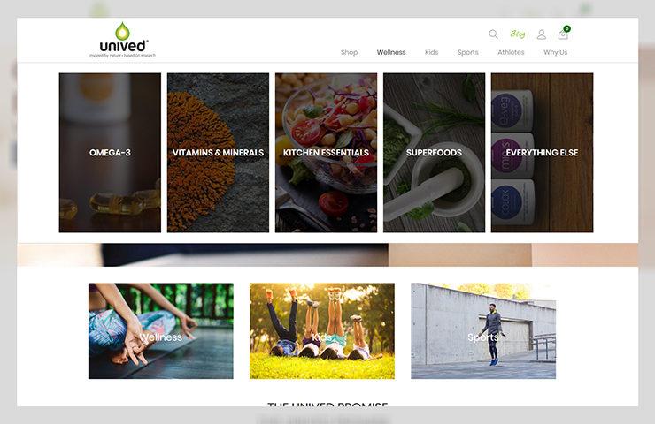 Unived Website Screenshot
