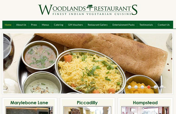 Restaurants Web Development By Axis Web Art
